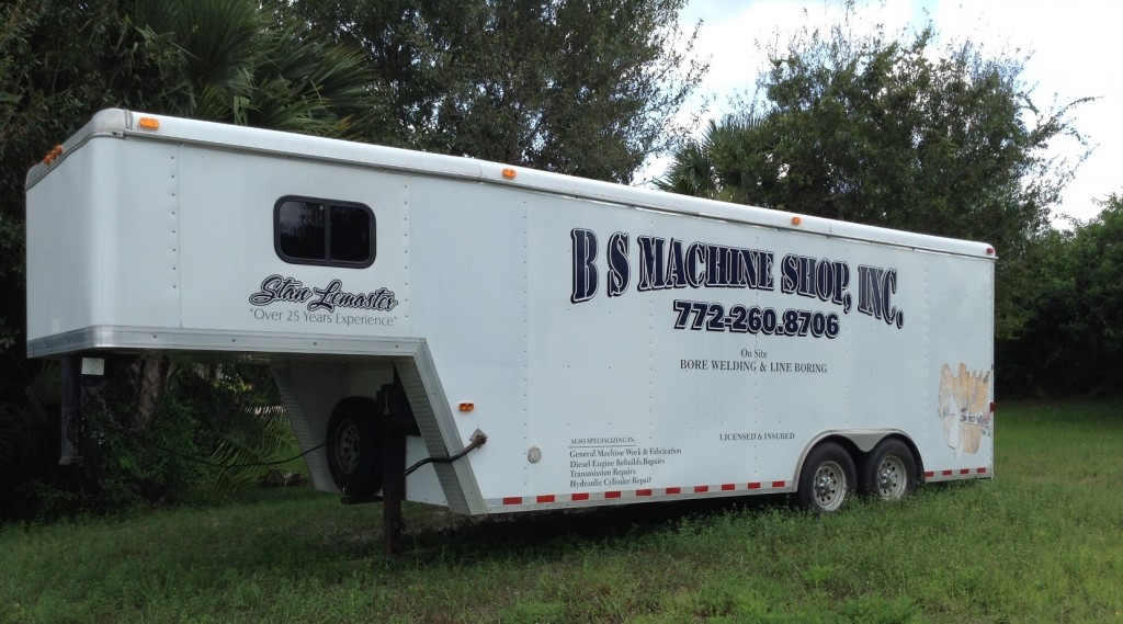 B S Machine Shop - South Florida on-site bore welding and line boring